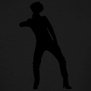 Singer and Dancer Silhouette vector design - Men's Tall T-Shirt