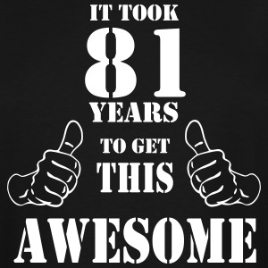 81st Birthday Get Awesome T Shirt Made in 1936 - Men's Tall T-Shirt