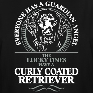 GUARDIAN ANGEL CURLY COATED RETRIEVER - Men's Tall T-Shirt