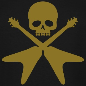skull with crossed guitars - Men's Tall T-Shirt