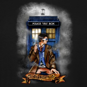 Doctor and Blue Phone Box - Men's Tall T-Shirt
