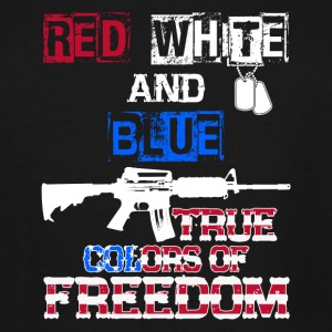Red White And Blue True Colors Of Freedom Products - Men's Tall T-Shirt