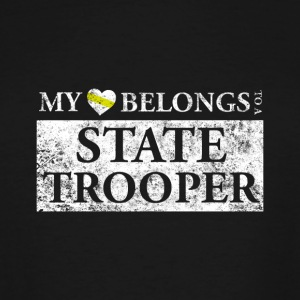 My Heart Belongs To A State Trooper T Shirt - Men's Tall T-Shirt