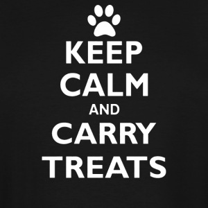 Keep Calm And Carry Treats Funny Dog Training Trai - Men's Tall T-Shirt