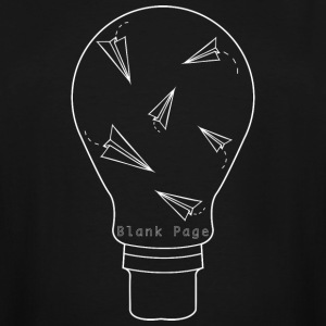 Blank Page Lightbulb - Men's Tall T-Shirt