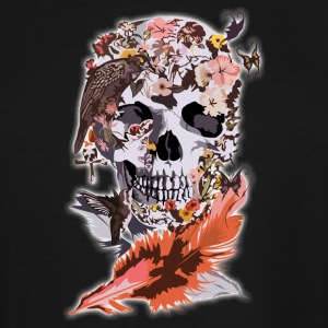 Birds, butterfly and Sugar Skull - Men's Tall T-Shirt