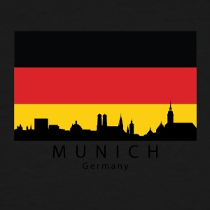 Munich Germany Skyline German Flag - Men's Tall T-Shirt