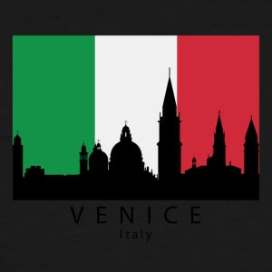Venice Italy Skyline Italian Flag - Men's Tall T-Shirt