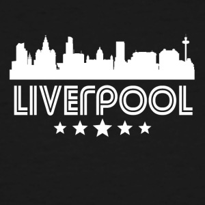 Retro Liverpool Skyline - Men's Tall T-Shirt