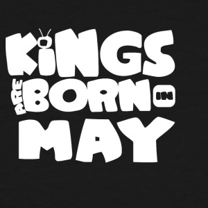 KINGS ARE BORN IN MAY - Men's Tall T-Shirt
