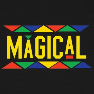 Magical Tribal Design (Yellow Letters) - Men's Tall T-Shirt
