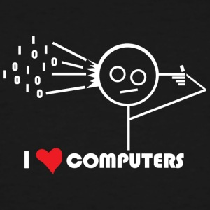 I Love Computers - Men's Tall T-Shirt