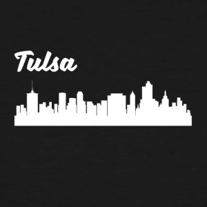 Tulsa OK Skyline - Men's Tall T-Shirt