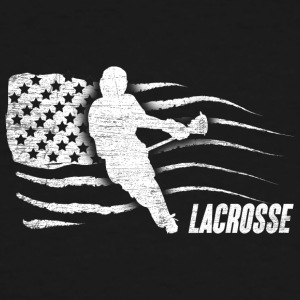 Lacrosse American Flag - Men's Tall T-Shirt