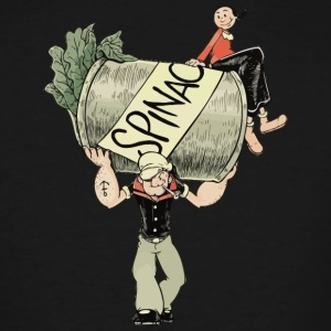 The Sailor Man with the Spinach Can - Men's Tall T-Shirt