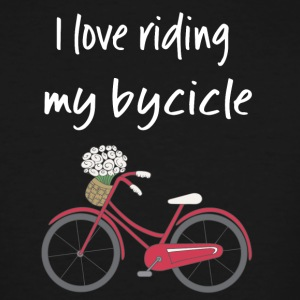 I love riding my bycicle - Men's Tall T-Shirt
