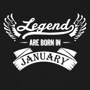 Legends are born in January - Men's Tall T-Shirt