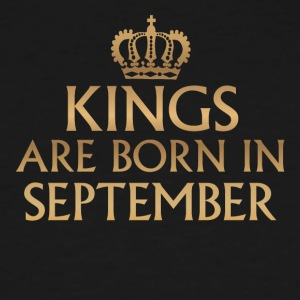 Kings are Born in September - Men's Tall T-Shirt