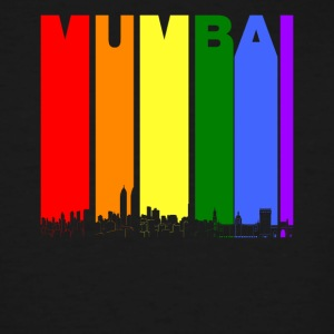 Mumbai India Skyline Rainbow LGBT Gay Pride - Men's Tall T-Shirt