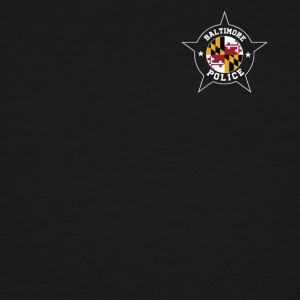 Baltimore Police T Shirt - Maryland flag - Men's Tall T-Shirt