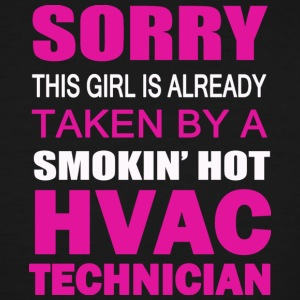 Taken By A Smokin' Hot HVAC Technician T Shirt - Men's Tall T-Shirt