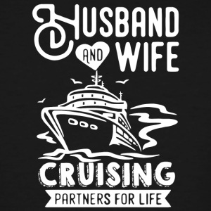 Husband And Wife Cruising Partners For Life Shirt - Men's Tall T-Shirt