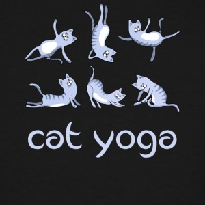 yoga Cat blue kitty gym Humor cute LOL exercise lo - Men's Tall T-Shirt