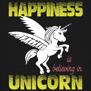 Happiness is believing in UNiCORN - Men's Tall T-Shirt