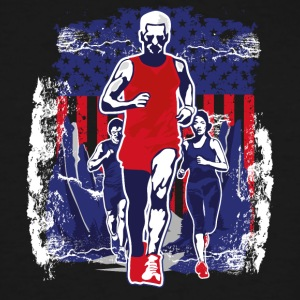 Man victory running American flag symbol sports - Men's Tall T-Shirt