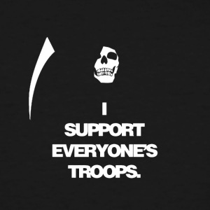 Death supports everyone's troops - Men's Tall T-Shirt