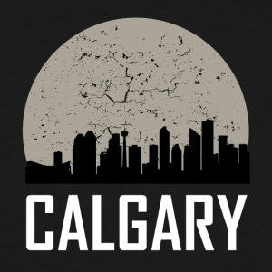 Calgary Full Moon Skyline - Men's Tall T-Shirt