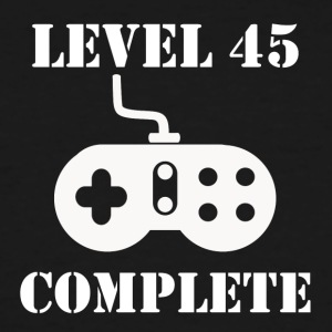 Level 45 Complete 45th Birthday - Men's Tall T-Shirt