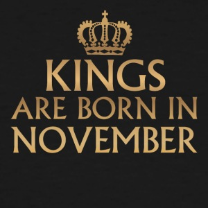 Kings are born in November - Men's Tall T-Shirt
