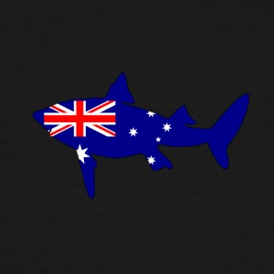 Australian Flag - Shark - Men's Tall T-Shirt