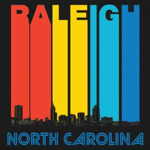 Retro Raleigh North Carolina Skyline - Men's Tall T-Shirt