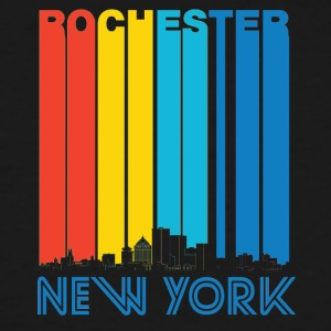 Retro Rochester New York Skyline - Men's Tall T-Shirt