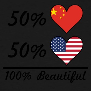 50% Chinese 50% American 100% Beautiful - Men's Tall T-Shirt