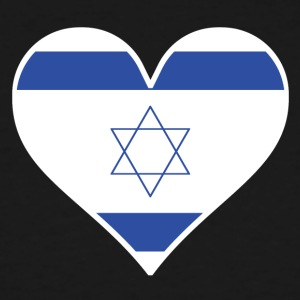 Israeli Flag Heart - Men's Tall T-Shirt