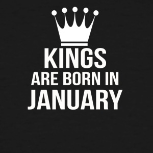 kings are born in january - Men's Tall T-Shirt