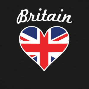 Britain Flag Heart - Men's Tall T-Shirt