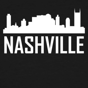 Nashville Tennessee City Skyline - Men's Tall T-Shirt