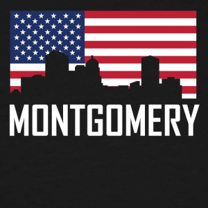 Montgomery Alabama Skyline American Flag - Men's Tall T-Shirt
