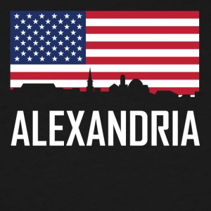 Alexandria Virginia Skyline American Flag - Men's Tall T-Shirt