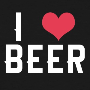 I love beer - Men's Tall T-Shirt