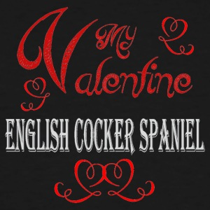 A romantic Valentine with my English Cocker Spanie - Men's Tall T-Shirt