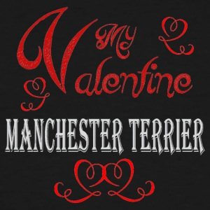 A romantic Valentine with my Manchester Terrier - Men's Tall T-Shirt