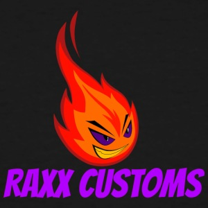 Fire RAXX CUSTOMS logo orange and purple - Men's Tall T-Shirt
