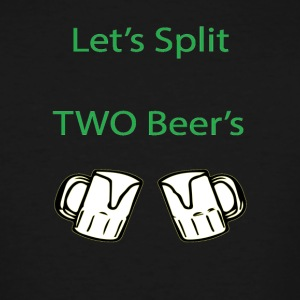 Split 2 beers - Men's Tall T-Shirt
