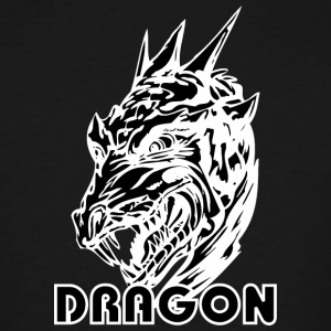 scary_dragon_head_black - Men's Tall T-Shirt