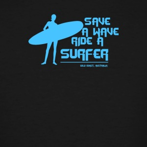 Surf Board Surfer Australia Save A Wave - Men's Tall T-Shirt
